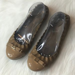 67fa7846856 Tory Burch Reva Flats in Stingray Coconut Leather.  M 5b476d9cbaebf6c3f081879c. Other Shoes you may like. Tory Burch Flats Size  9